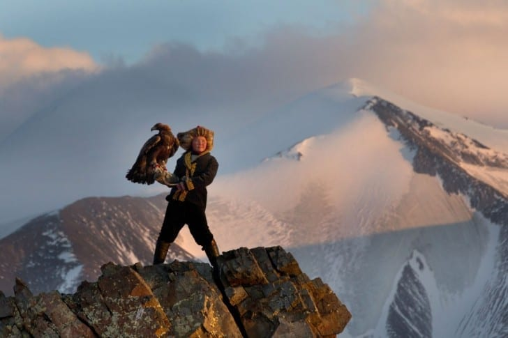 13 year old eagle huntress Ashol Pan, Mongolia