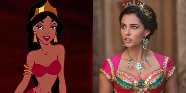 Animated Jasmine, 1992 + Live-action Jamines, 2019