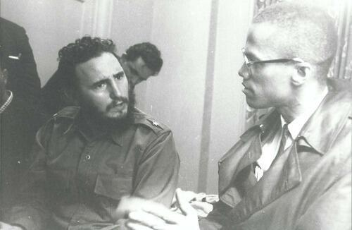 Fidel Castro and Malcolm X in 1960