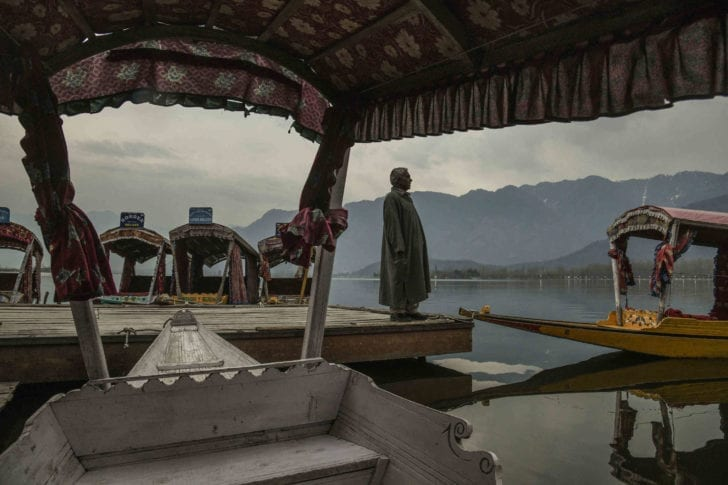 Srinagar, India | In a tourist season without tourists, boats without passengers.