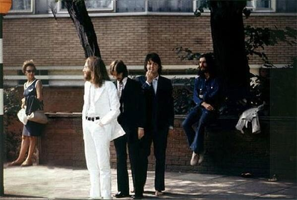 The Beatles before making the Abbey Road iconic album picture in 1968