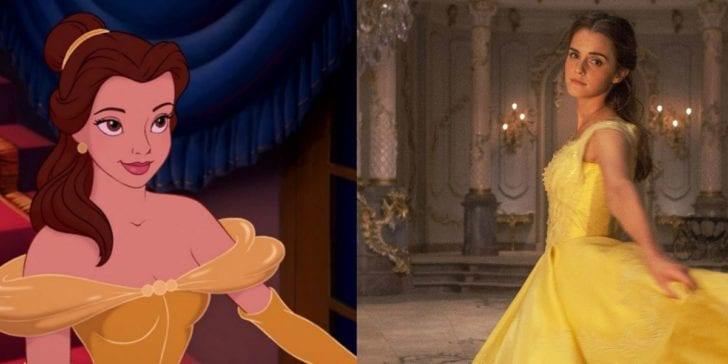 Belle was played by Emma Watson in 2017's live-action remake