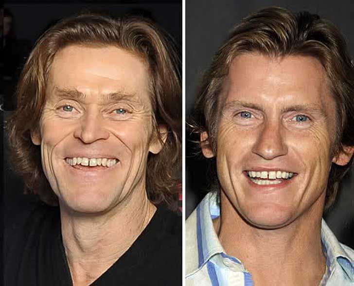 Willem Dafoe and Denis Leary