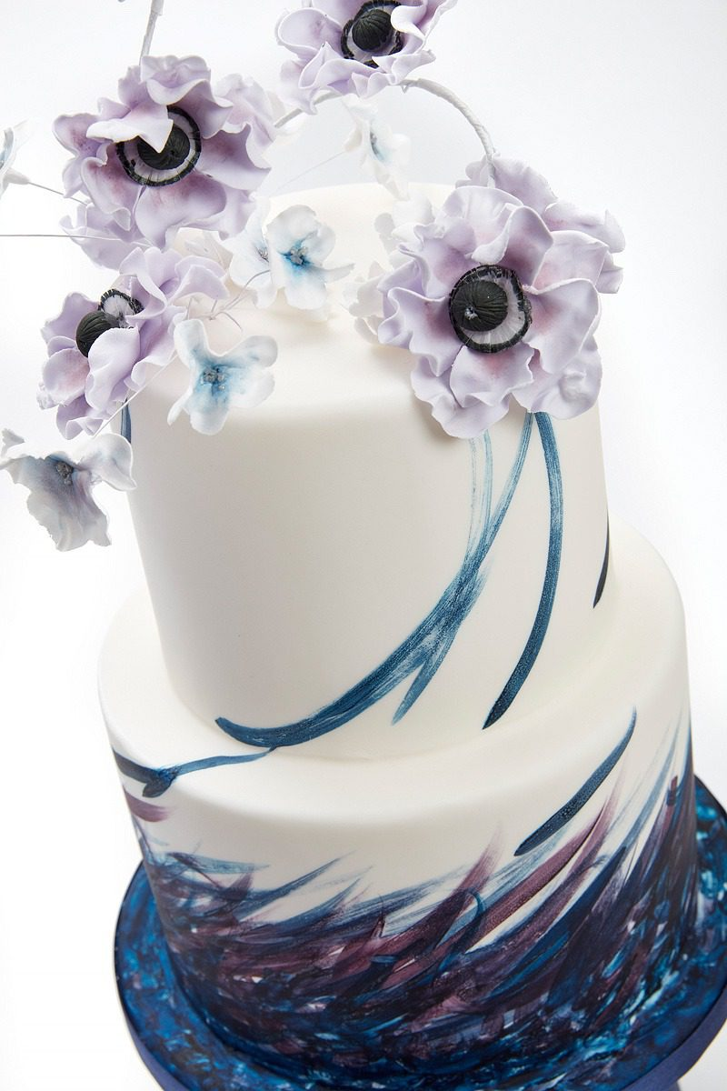 Lilac Anemones | Clare Anne Taylor Couture Cakes