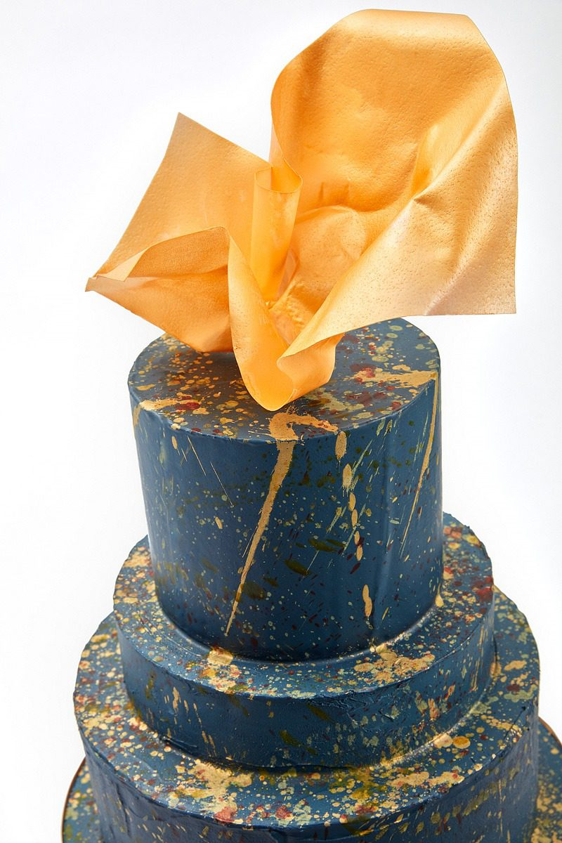 Navy & Gold Explosion| Clare Anne Taylor Couture Cakes