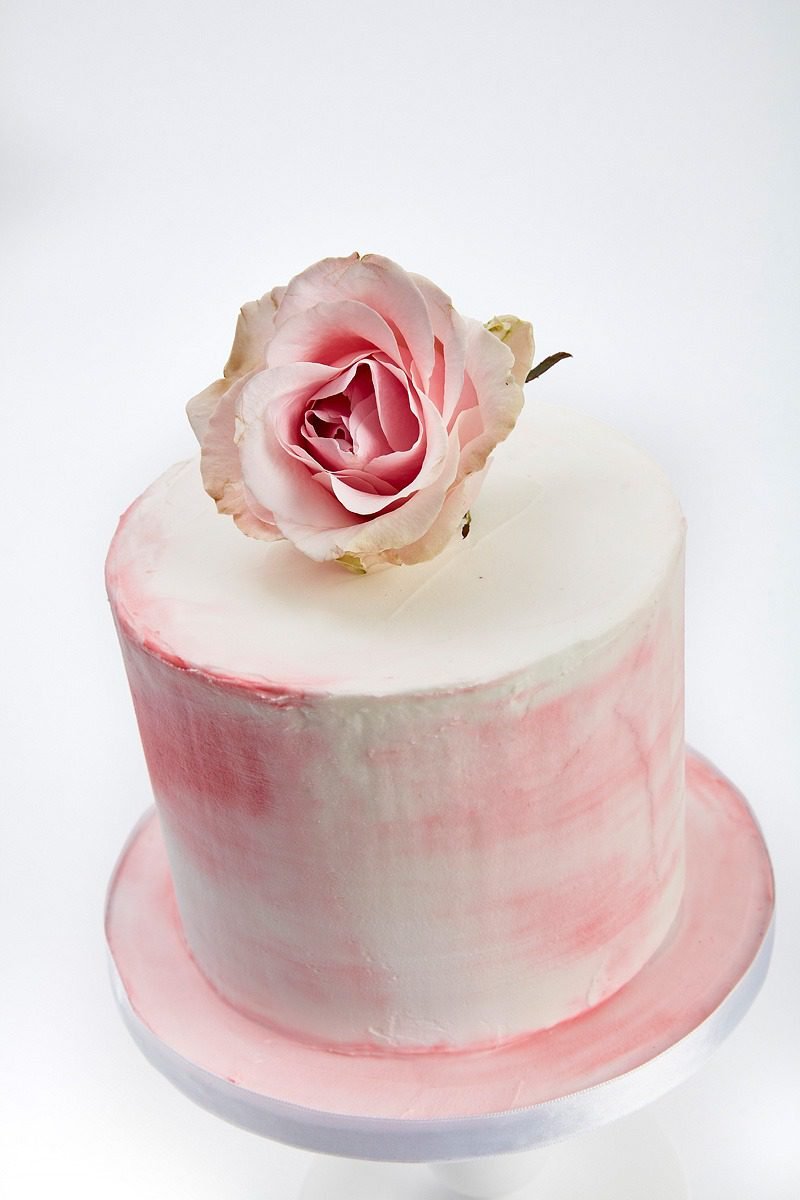 Pink Buttercream Cake   Clare Anne Taylor Couture Cakes