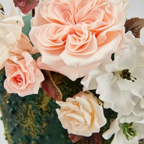 Floral Collection and Floral collection link on wedding cake page
