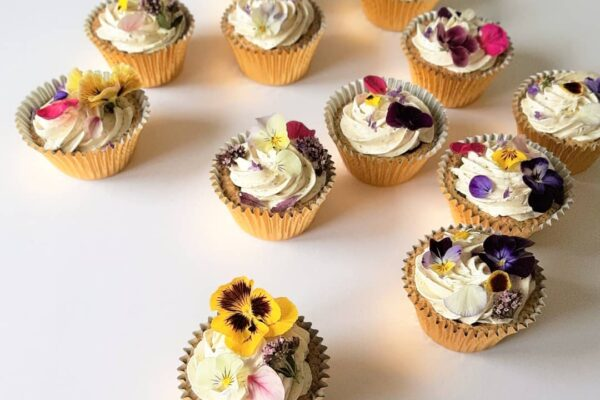Wildflower Wedding Cupcakes